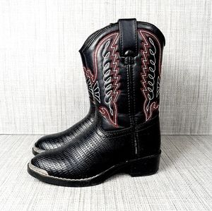 Durango Lizard Print Black Cowgirl Boots 11